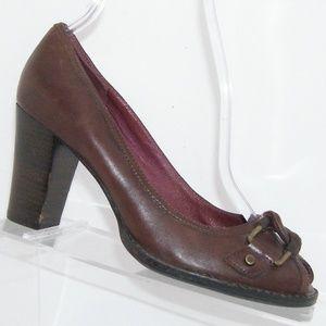Aerosoles Unbelieveable burgundy leather heels5.5M